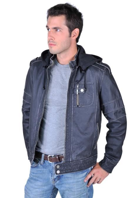 Look awesome with this Mens Black Leather Jacket for only US $139. Buy more save more. Buy 3 items get 5% off, Buy 8 items get 10% off.