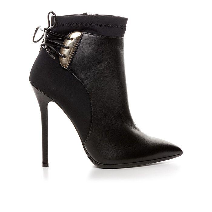 120408_BLACK LEATHER www.mourtzi.com #wearblack #mourtzi #booties #ankleboots #designershoes