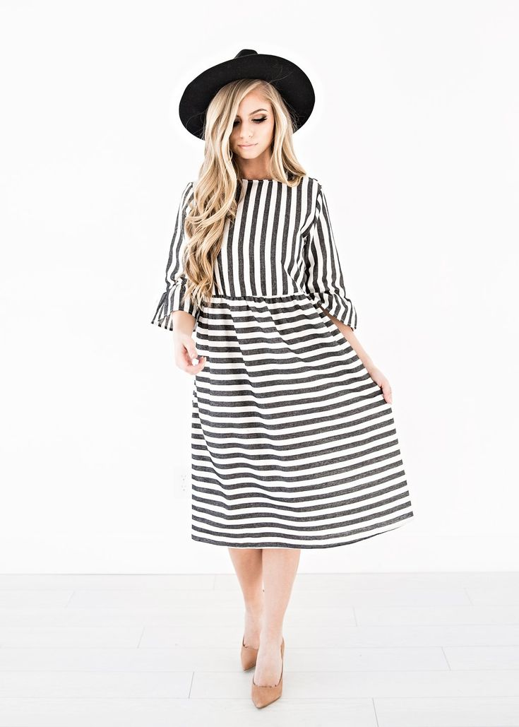 Brooklyn Night Striped Dress, blonde, makeup, jessakae, womens fashion, fashion, style, ootd, womens style, winter fashion, nursing friendly dress, plus size