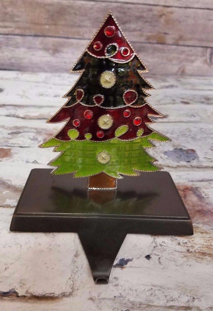 Christmas Tree Jeweled Enameled Stocking Holder Hanger Costco Stocking Tree Stocking Holders Christmas Stockings