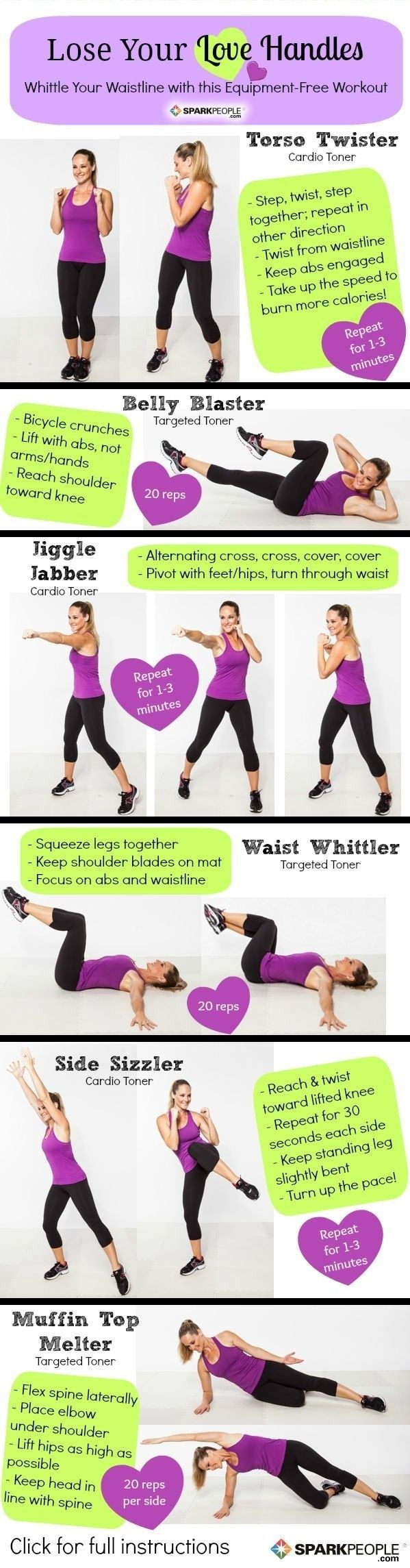 Lose Your Love Handles! 6 Moves To Melt Your Muffin Top!