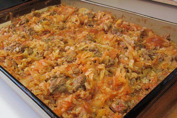 Cabbage Roll Casserole Recipe In 2020 Cabbage Rolls Cabbage Roll Casserole Beef Recipes Easy
