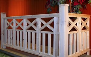Nice design for a deck railing.