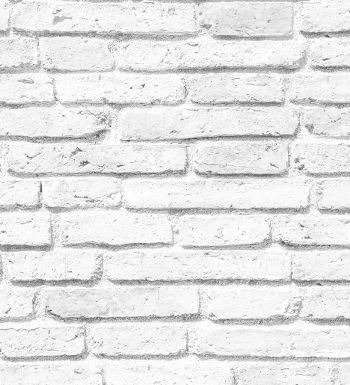 Papel pintado ladrillo blanco vintage - 1303201
