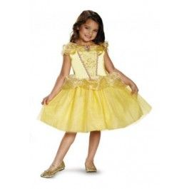 Disney Belle Princess costume great for your princess to wear for Halloween or costume party./Wally's Party Factory #Disney #Belle #Princess