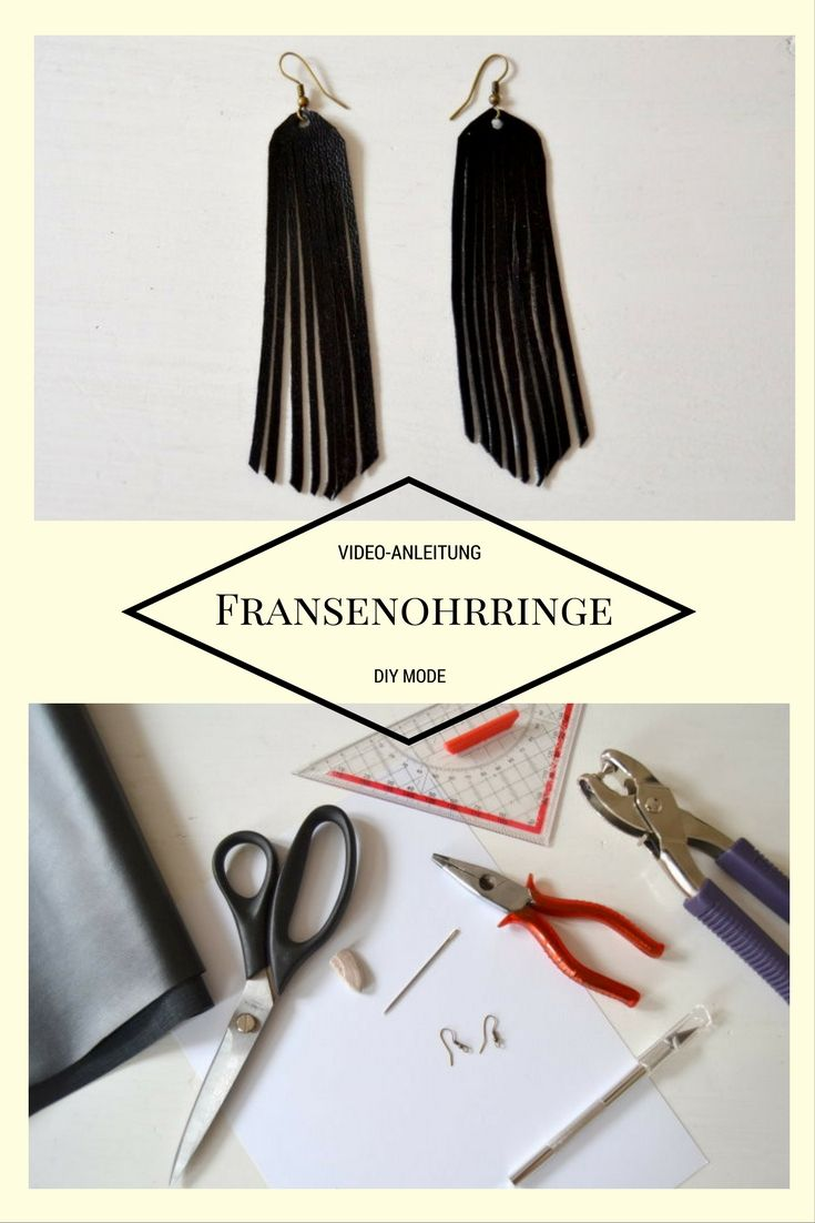 DIY Ohrringe selber machen aus Kunstleder / Fransenohrringe Anleitung
