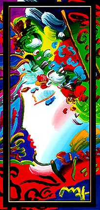Peter Max Originals to buy: Blushing Beauty by Peter Max, Original Painting, Acrylic on Canvas