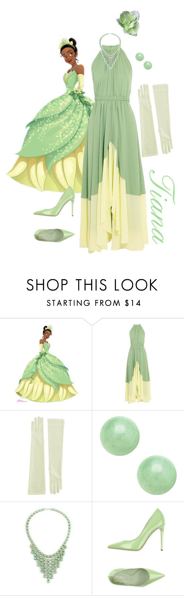 """Princess Tiana Inspired"" by starria ❤ liked on Polyvore featuring Saloni, George J. Love and Le Silla"
