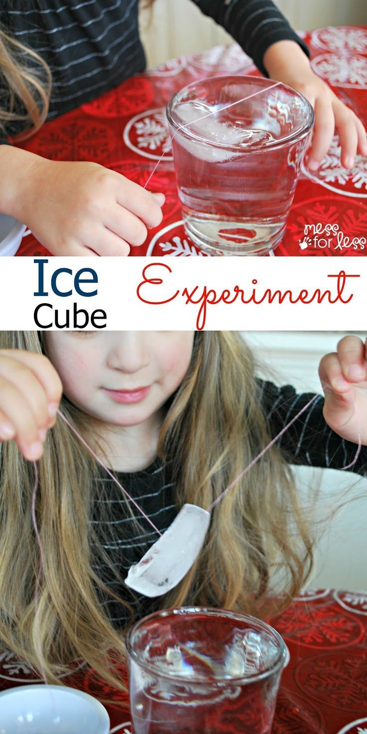 Ice Cube Experiment - Can you pick up an ice cube with a piece of string? Find out with this simple science experiment.