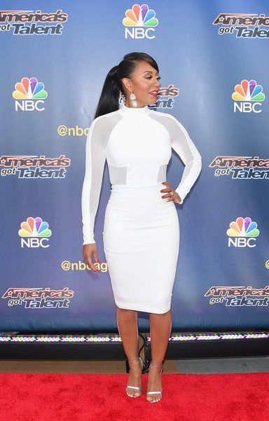 "Melanie Brown Photos Photos - Singer/TV personality Mel B attends the ""America's Got Talent"" season 10 taping at Radio City Music Hall on August 11, 2015 in New York City. - Stars Attend the 'America's Got Talent' Season 10 Taping in NYC"