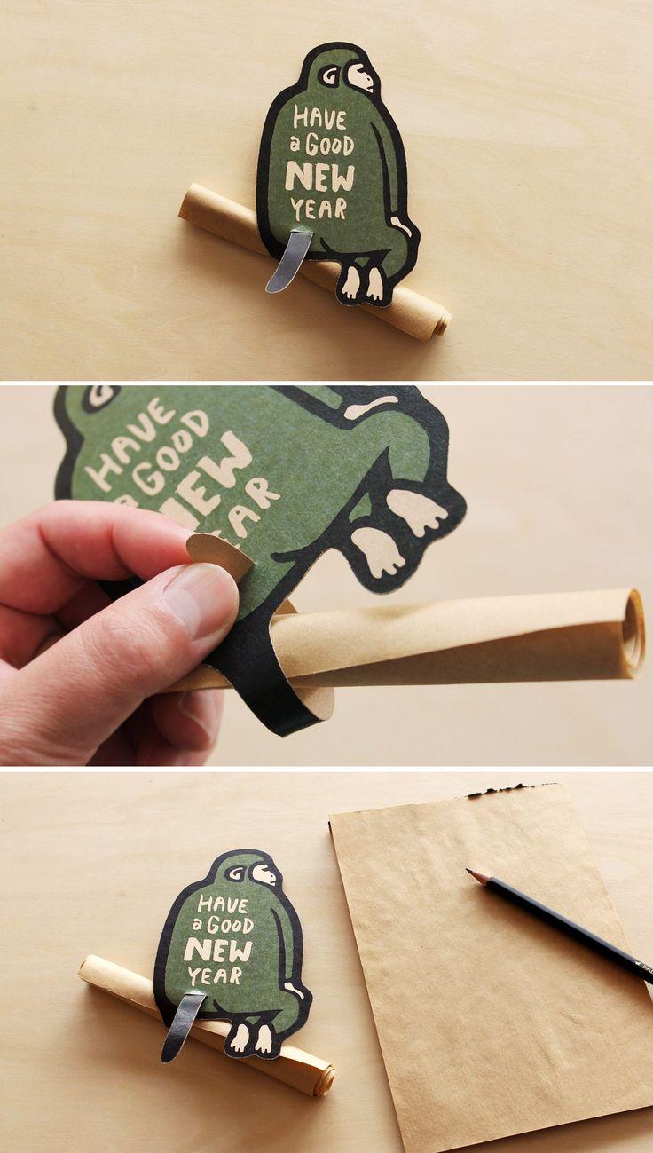 Greeting Monkey / Letter 申年(猿)の年賀状・グリーティングカード-ALNICO DESIGN アルニコデザイン