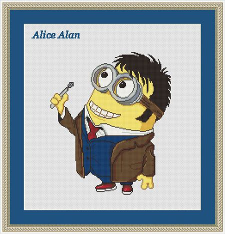 Hey, I found this really awesome Etsy listing at https://www.etsy.com/listing/262432676/cross-stitch-pattern-minion-doctor-who
