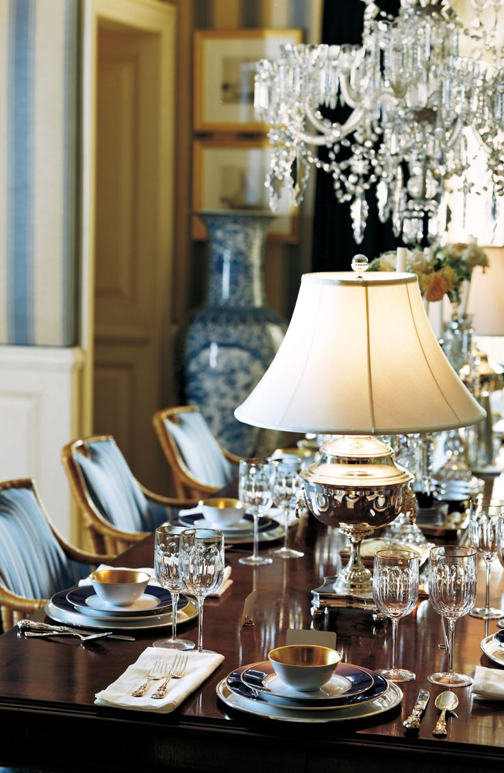 Table lamps create intimate moments at a sparkling formal dinner party | Ralph Lauren Home
