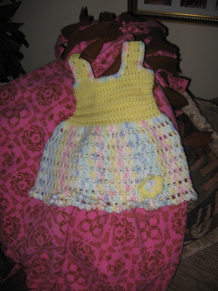 Another little newborn dress that I made.  It went to a good home.