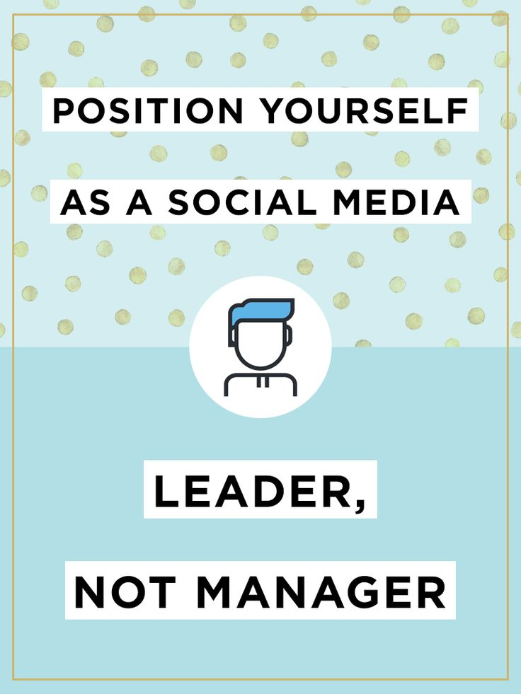 "The title of ""social media manager"" is a blanket term that applies to anyone who implements the brand's social media strategy, develops brand awareness, increases inbound traffic and promotes product or service adoption. But to reach your company's apex of social media presence, you should really be a social media leader."