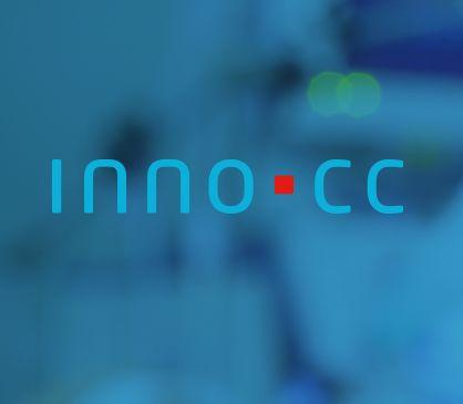 Klares schlichtes Logo-Design in der Farbenwelt der Medizintechnik.