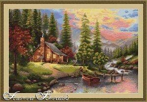 Горный пейзаж (№2355) - Пейзажи, здания - Aurora Borealis