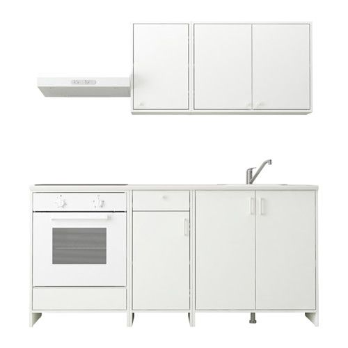 FYNDIG Küche IKEA Korpus, Tür und Schubladenfront sind mit einem kratzfesten, pflegeleichten Melaminüberzug versehen.