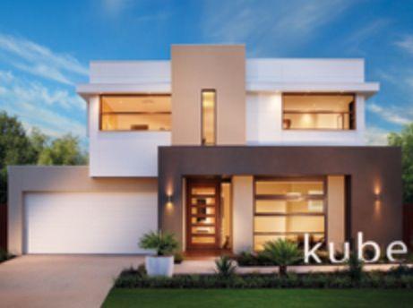Chocolate, beige & white modern rendered house