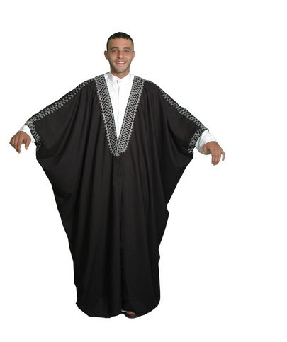 Islamische Kleidung Herren, Männer Kaftan Umhang Araber Scheich Kostüm Scheichkostüm, Lange Roben Zu Gehen, Einfach Um Zu Tragen, Nicht Unsichtbarkeit Material
