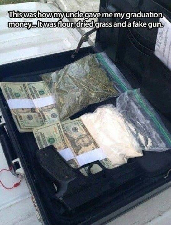 Faks drug dealer starter kit! Bhahaha