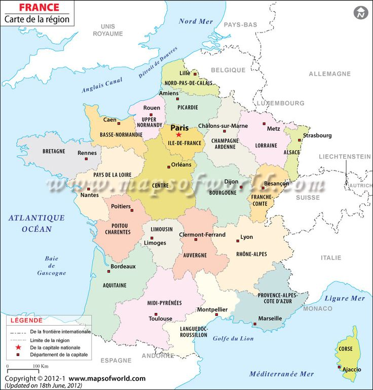 Carte de la France - Interesting #France #Map in #French Language