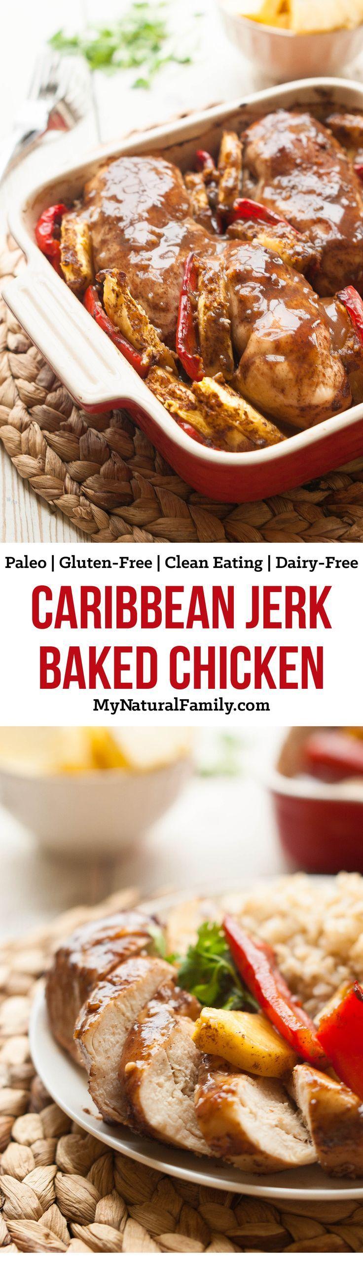 Caribbean Jerk Baked Chicken Recipe {Paleo, Gluten-Free, Clean Eating, Dairy-Free}