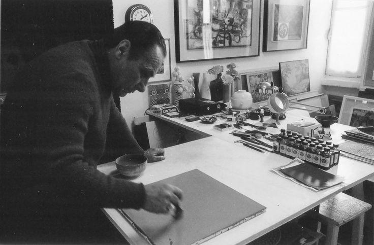1975 Negri Gaetano (studio ) pittore Besozzi, fotografia bn, cm. 10 X15
