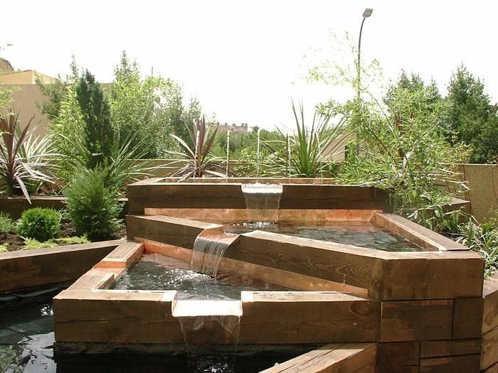 Triangular Fusta Pond Design Pool Water Features Water