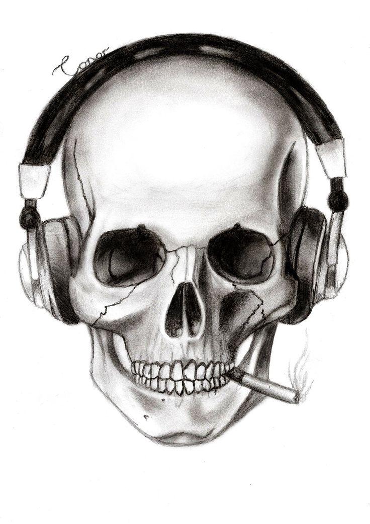 Skull And Headphones by Conor332211.deviantart.com on @deviantART