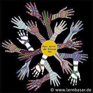 Tolle bunte Hände zum Verschönern des Klassenzimmers - ein Projekt für den Kunstunterricht