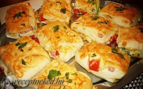 Pizza pogácsa recept fotóval