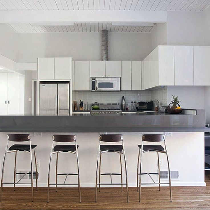 Awesome small kitchen design with bar stools