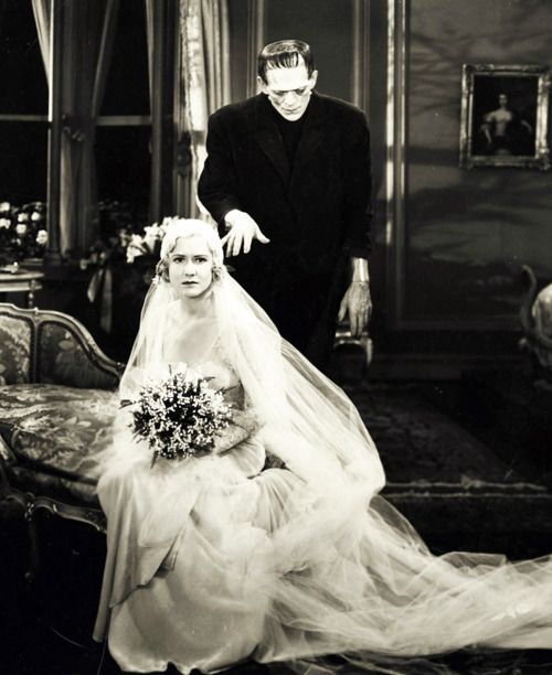 Boris Karloff and Mae Clarke in Frankenstein (1931)