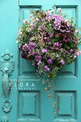 スミレとネメシアを使って。。。ピンクのスリット壁掛け |フローラのガーデニング・園芸作業日記