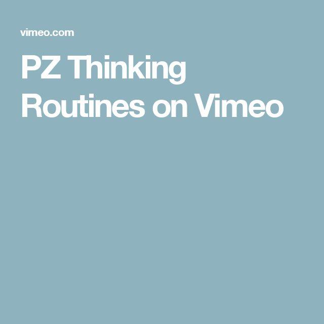 PZ Thinking Routines on Vimeo