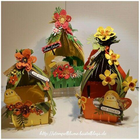 StampinUp!, Osterkörbchen mit der Bigz L Körbchen und den Framelits Blumen Potpourri entstanden...