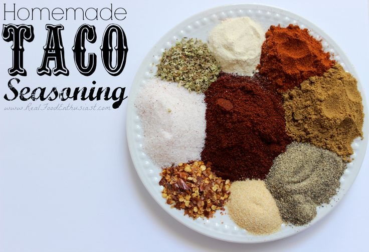 This homemade taco seasoning mix is super easy to make, MUCH healthier, less expensive, AND it tastes way better than the store-bought mixes! #recipe #homemade