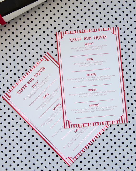 For a food-themed bridal shower, play this fun twist on the couples quiz. Have…
