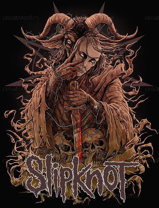 Slipknot Merchandise Graphic by eRIOToman on CreativeAllies.com
