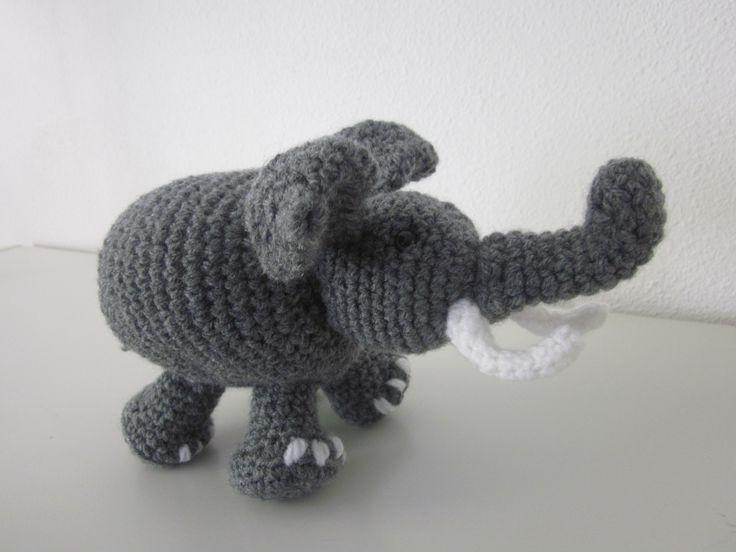 olifant gehaakt door Gerda