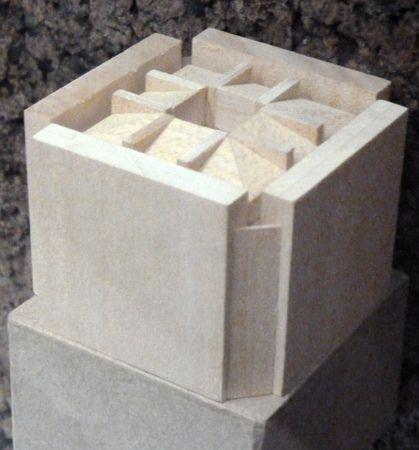 Final massing model - Library @ Phillips Exeter - Louis Khan