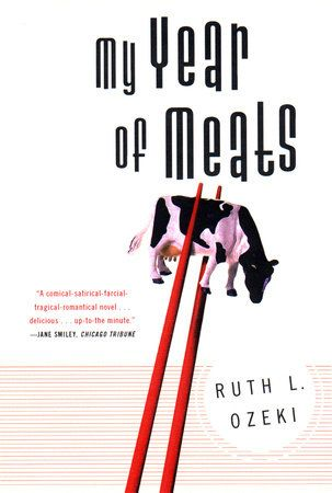 """I love when fiction tackles topics that most would shy away from if packaged in a non-fiction context."" Berkley NAL designer Colleen Reinhart recommends MY YEAR OF MEATS by Ruth Ozeki"