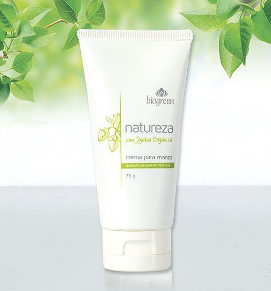 Esta perfumada crema, formulada con aceite de jojoba orgánica, humecta y protege la delicada piel de tus manos. Tersura y suavidad durante horas.  Presentación: 75 g.