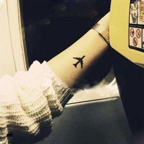 (Min zamówić $0.5) Tymczasowe Tatuaż Dla Człowieka Kobieta Wodoodporne Naklejki makijażu maquiagem uzupełnić samolot Tatuaż SYA014