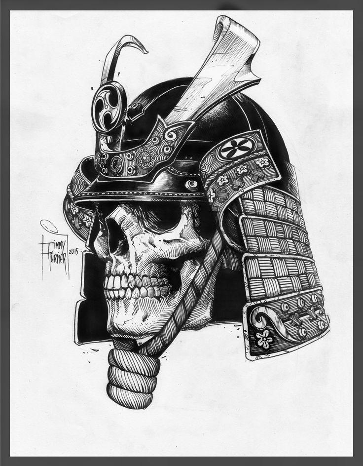 #tattoo #skull #samurai