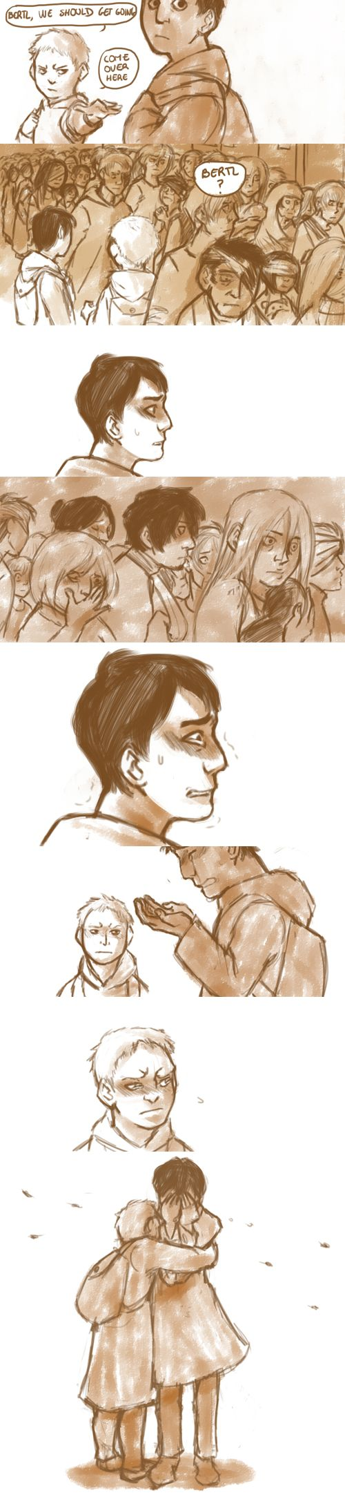 Reiner and Bertholdt. Bertholt u ass u literally made all this shit happen. I don't like u anymore after chapter 82 oOPS SORRY NOT SORRY BITCH