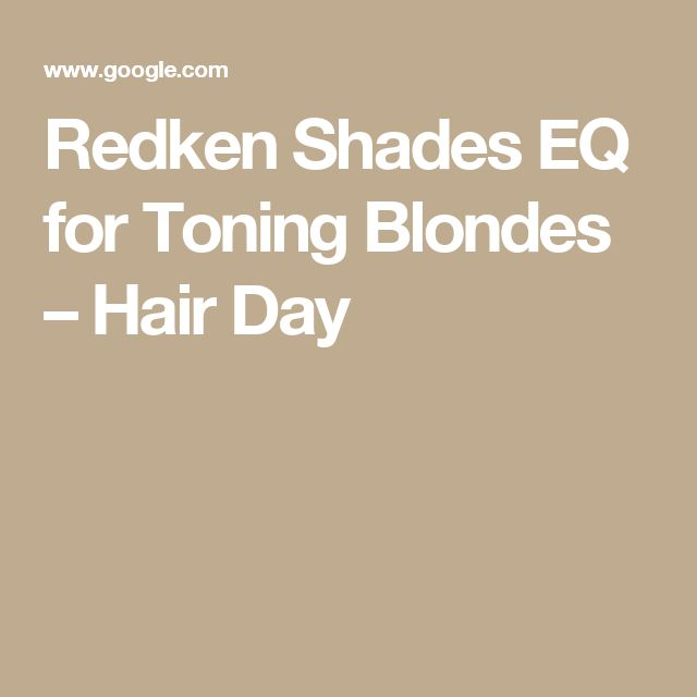 how to use redken eq shades at home