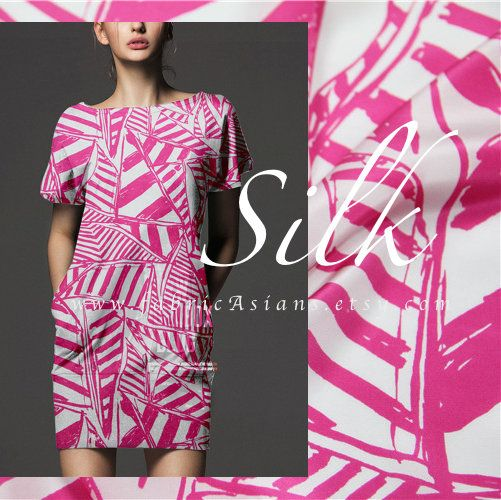 Hey, I found this really awesome Etsy listing at https://www.etsy.com/listing/523275849/fuchsia-silk-crepe-fabric-70s