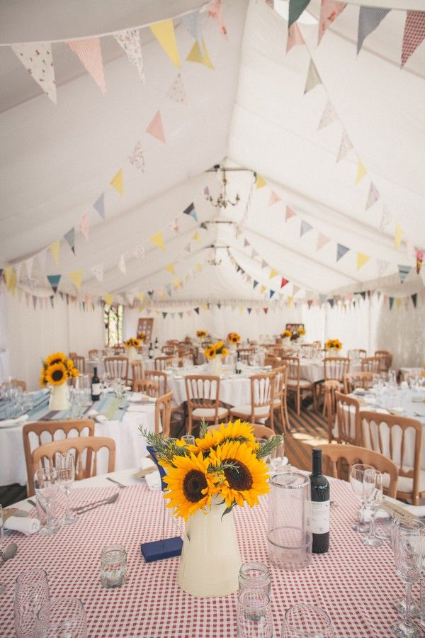 Bunting Pretty Party Pub Informal Wedding http://www.emmalucyphotography.com/